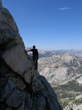 High on the NW Buttress of Tenaya Peak